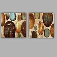 Ručně malované Abstraktní olejomalby,Klasický / Moderní Dva panely Plátno Hang-malované olejomalba For Home dekorace
