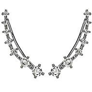 Øre Cuffs Hypoallergenisk Strass imitasjon Diamond Legering Sølv Gylden Smykker Til Bryllup Fest Daglig Avslappet 1 par