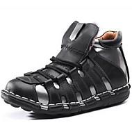 גברים-מגפיים-עור נאפה Leather-נוחות-שחור-שטח / משרד ועבודה / קז'ואל / מסיבה וערב
