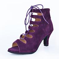 Sapatos de Dança(Preto / Azul / Roxo / Vermelho) -Feminino-Personalizável-Latina / Jazz / Tênis de Dança / Moderna
