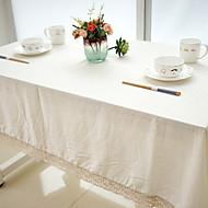 Neliö Yhtenäinen Table Cloths , Mélange Lin/Coton materiaaliHäät Party Sisustus Joulu Sisustus Favor Taulukko Dceoration Häät Illallinen