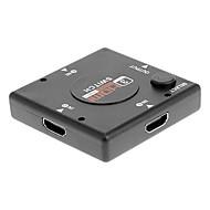 1 až 3 Port HDMI přepínač Splitter Selector pro PS3 / Wii / Xbox 360 (černá)