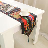 obdélníkový Se vzorem / Zvíře / Květinový stolní ubrus , Směs bavlny Materiál Tabulka Dceoration / Hotel Jídelní stůl
