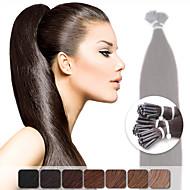 neitsi 20 '' 50g liimapuikot i TP mikrorenkaat fuusio ihmisen hiusten pidennykset 1g / s väri valita