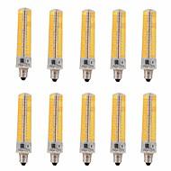 15W E11 LED kukorica izzók T 136 SMD 5730 1200-1400 lm Meleg fehér / Hideg fehér Állítható / Dekoratív V 10 db.