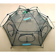 Folding fish cage / fishing cage / shrimp cage / small eye encryption / fishing nets New Folded 80x80cm Floding Crab fish Minnow Fishing Trap Cast Net