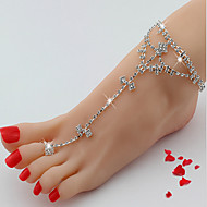 Dame Ankel/Armbånd Strass Legering Luksus Smykker Europeisk Smykker Til Bryllup Daglig