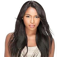 cor natural perucas frente invisível profundo laço l parte do cabelo humano 20 polegadas reta laço do cabelo humano