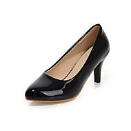 נשים-עקבים-עור פטנט מיקרופייבר-נוחות חדשני-שחור אדום לבן Almond-חתונה משרד ועבודה שמלה יומיומי מסיבה וערב-עקב נמוך