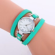 Women's Fashion Watch Wrist watch Bracelet Watch Punk Colorful Quartz Leather Band Candy color Bohemian Charm Bangle Cool CasualBlack Strap Watch