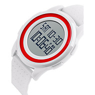 SKMEI Unisex Fashion Sport LCD Double Digital Time Alarm Waterproof Rubber Ultra Thin Watch