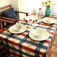 ריבוע משבצות כיסויי שולחן , 100% כותנה חוֹמֶרבעד ארוחת הערב דקור / עיצוב הבית / שולחן אוכל במלון / ארוחת ערב סעודת חתונה / שולחן