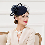 Women's Wool / Silk / Net Headpiece-Wedding / Special Occasion / Casual Fascinators / Hats 1 Piece
