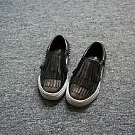 לבנות-נעליים ללא שרוכים-דמוי עור-Others-אדום / כסוף-קז'ואל