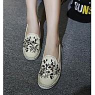 נשים-נעליים ללא שרוכים-טול-נוחות-ורוד / אפור / Almond-קז'ואל