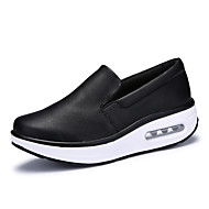 Women's Athletic Shoes Spring Summer Fall Winter Comfort Microfibre Dress Casual Party & Evening Flat Heel Stitching Lace Black White
