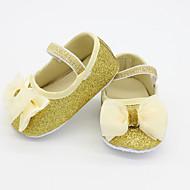 לבנות תינוק-שטוחות-נצנצים-נוחות-כסוף זהב-קז'ואל-עקב שטוח