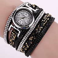 Relojes Mujer 2016 Fashion Women Watches Bracelet Leather Watch Strap Weaving Dress Digital Watch Clock Wrist Watches Relogio