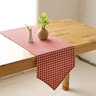 obdélníkový Se vzorem / Vzor gingham stolní ubrus , Směs bavlny Materiál Hotel Jídelní stůl / Tabulka Dceoration