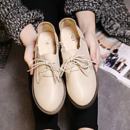 Women's Oxfords Comfort PU Casual Brown Almond