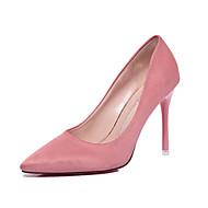 Femme-Bureau & Travail Habillé Décontracté-Noir Vert Rose-Talon Aiguille-Confort-Chaussures à Talons-Daim