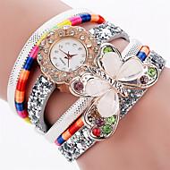 Xu™ Women's Fashion Watch Wrist watch Quartz PU Band Vintage Butterfly Casual Black White Blue Red Pink Ivory