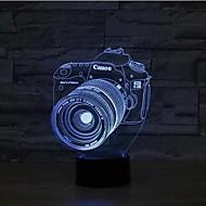 cameratoetsen dimmen 3D LED 's nachts licht 7colorful decoratie sfeer lamp nieuwigheid verlichting kerstverlichting