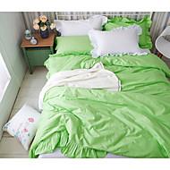 Solid Duvet Cover Sets 1 Piece Cotton solid Reactive Print Cotton Queen 1pc Duvet Cover / 2pcs Shams / 1pc Flat Sheet
