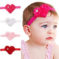 4pcs / set jour cheveux bandeau en forme de coeur de beaux enfants accessoires de cheveux de bébé mignon valentine
