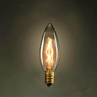 c35 vela amarela e14 40w 220v-240v pequeno parafuso luz bulbo edison
