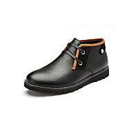 Aokang Men's Shoes Outdoor/Office & Career/Casual Leather Boots Black/Blue/Brown