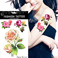 5pcs Tattoo Aufkleber Blumen Serie Non Toxic / WaterproofDamen Flash-Tattoo Temporary Tattoos