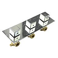 phasat chromeh čtvereční triple rukojeť dešťovou sprchou směšovacím ventilem