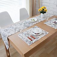 obdélníkový Se vzorem stolní ubrus , Směs bavlny Materiál Hotel Jídelní stůl / Tabulka Dceoration