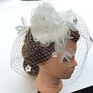 Women's Pearl Rhinestone Chiffon Fabric Net Headpiece-Wedding Special Occasion Fascinators Birdcage Veils 1 Piece