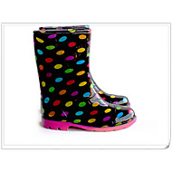 Girl's Boots Spring Summer Fall Other Synthetic Outdoor Low Heel Polka Dot Black Other