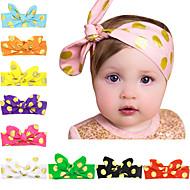 10 색상 / 설정 아기 골드 도트 프린트 유아 헤어 밴드 10 색 머리띠를 매듭