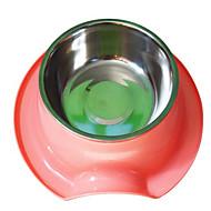 강아지 먹이 애완동물 그릇 & 수유 캐쥬얼/데일리 그린 / 블루 / 핑크 스테인레스 스틸(스테인레스 강)