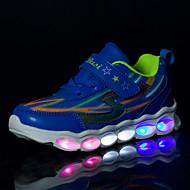 Jungen-Sneaker-Outddor Lässig Sportlich-PU-Flacher Absatz-Komfort Neuheit Light Up Schuhe-Blau