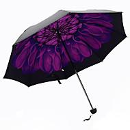 Roxa Guarda-Chuva Dobrável Sombrinha Plastic Carrinho