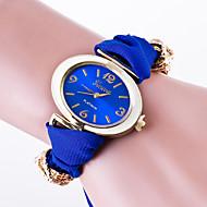 Damen Modeuhr Armband-Uhr Quartz / Stoff Band Blume Bequem Schwarz Weiß Rot Braun Grün Rosa Gelb Marinenblau RoseKaffee Rose Rot Grün