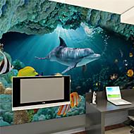 アールデコ調 ホームのための壁紙 現代風 ウォールカバーリング , キャンバス 材料 接着剤必要 壁画 , ルームWallcovering