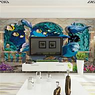 3D Wallpaper Otthoni Kortárs Falburkolat , Vászon Anyag ragasztószükséglet Falfestmény , szoba Falburkoló