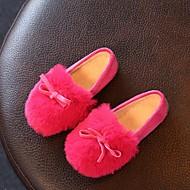 בנות-נעליים ללא שרוכים-פליז-מוקסין--יומיומי-עקב שטוח