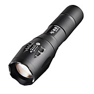 LED Flashlight E17 CREE XM-L T6 2000 LM High Power Zoomable  Torch light (1x18650) + 1*Battery + Charger