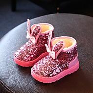 Boty-Koženka-Pohodlné-Dívčí Děti-Růžová Červená-Běžné-Plochá podrážka