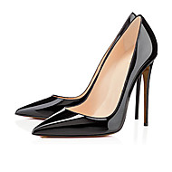 Women's Heels Spring Summer Fall Patent Leather Casual Party & Evening Stiletto Heel Others Black Red Nude