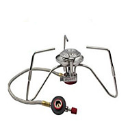 Stainless Steel Folding Stove Stove Silver Single Camping Hiking Outdoor Picnic