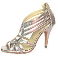 Sapatos de Dança(Prateado) -Feminino-Personalizável-Latina