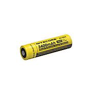 nitecore nl1834 3400mAh 3.7v 12.6wh bateria recarregável 18650 li-ion